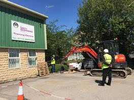 Construction Work Outside TMSC Training Centre 3