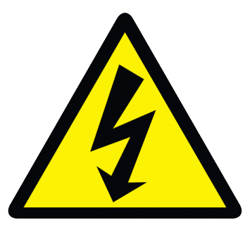 Electrical Icon Warning Sign